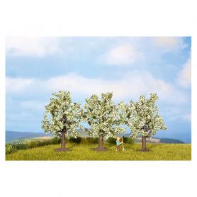 3 Fruktträd, blommande i vitt -Noch 25111