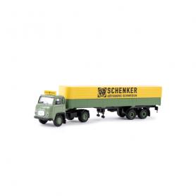 Scania LB 76 Pritsche/Plane-Sattelzug Schenker (SE)