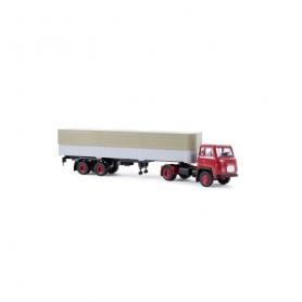 Scania LB 76 Pritsche/Plane-Sattelzug rot/grau