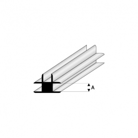 Styrene profile - T-connector