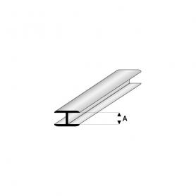 Styrene profile - Flat connector