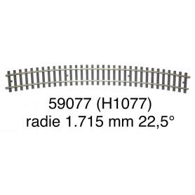 59077 Märklin curve track radius 1.715 mm 22,5° - gauge 1-second hand