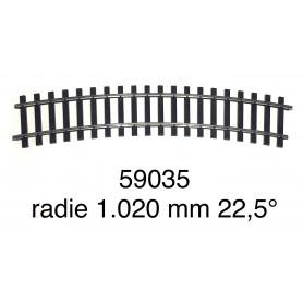 59035 Märklin curve track radius 1.020 mm 22,5° - gauge 1-second hand