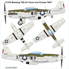 """P51D Mustang """"8th Air Force over Europe 1945"""""""