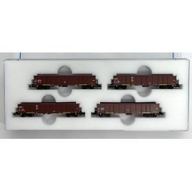 FR46.337.04 Green Cargo open fright car (Set of 4)