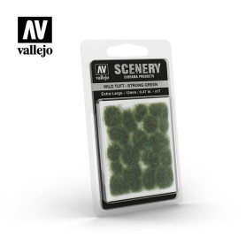 Vallejo-Grästuvor, mörkgrön