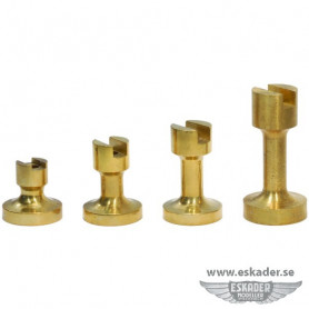 Pedestals, brass