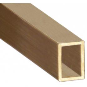 Brass, rectangular tube