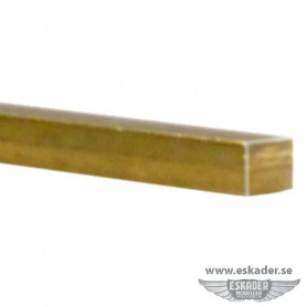 Brass, square rods