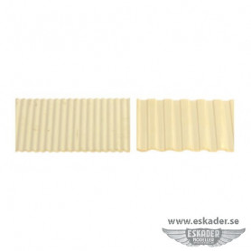Corrugated brass