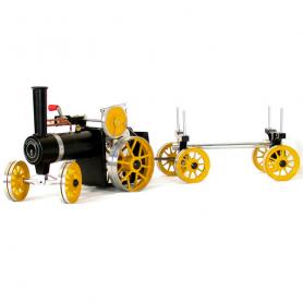 Mamod TWK1 traction engine with lumber trailer