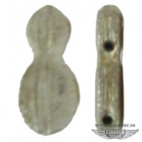 Fiddle blocks (white metal)