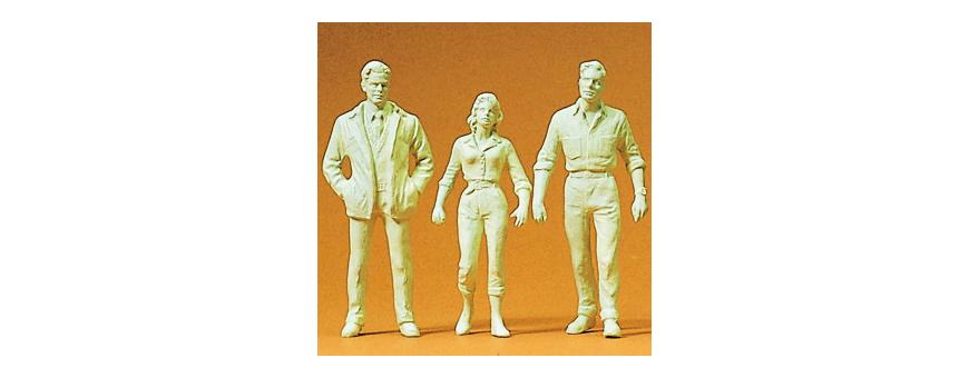 Unpainted figures